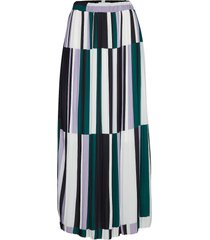dhmartes pleated maxi skirt pleated knälång kjol multi/mönstrad denim hunter