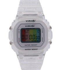 reloj transparente virox