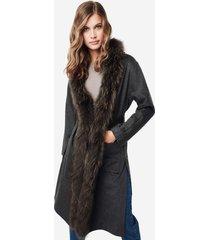 cappotto cashmere profili pelliccia