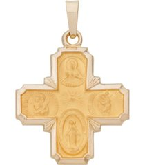 4-way medal pendant in 14k yellow gold