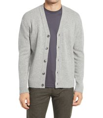 men's nn07 bj?rn 6333 slim fit v-neck cardigan, size xx-large - grey