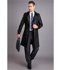 men leather coat winter long  leather coat genuine real leather trench coat-uk4