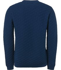 no excess pullover, r-neck, relief jacquard s shadow blue