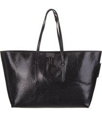 black binder shopper bag