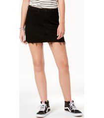 flying monkey high rise black denim mini skirt