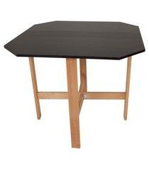 mesa aparador dobrável - preta