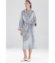 frosted cashmere fleece plush sleep & lounge bath wrap robe, women's, size l, n natori