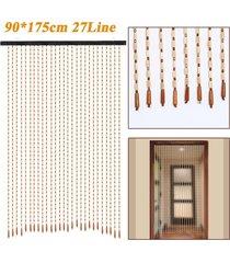 90 * 175cm 27line madera pantalla cortina del grano de la mosca porche dormitorio salón baño - marrón
