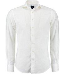 linnen overhemd wit