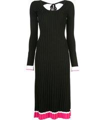 prabal gurung knitted scoop back dress - black