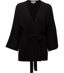 kimono gebreide trui cardigan zwart davida cashmere