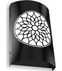arandela em aço bivolt arco árabe preta 6000k luz branca
