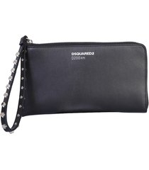 dsquared2 wallet clutch with logo