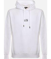 dsquared2 cotton sweatshirt with logo icon print