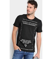 camiseta opera rock estampada masculina