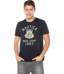camiseta azul navy nautica