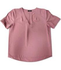 alfani pleated v-neck top, created for macy's
