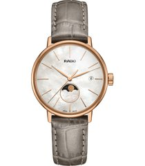 women's rado coupole classic leather strap watch, 34mm