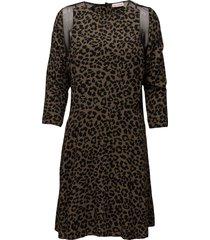 bahja print korte jurk bruin custommade