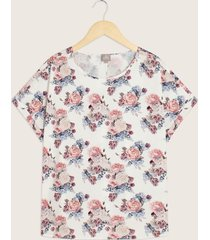 blusa manga corta con guardapolvo estampado-14