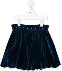 velveteen belinda stud-detail skirt - blue