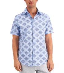 tasso elba men's diamond stripe shirt, created for macy's