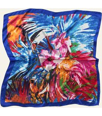 pañuelo azul nuevas historias pintura de flores ba1275-35