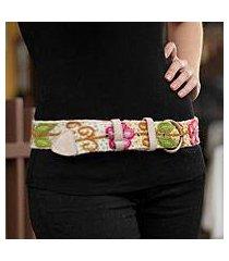wool belt, 'huantla spring' (peru)