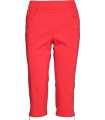 capri pants slimfit byxor stuprörsbyxor röd brandtex