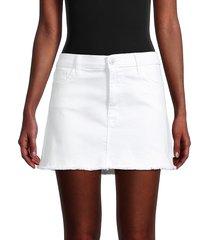 hudson women's vivid denim mini skirt - white - size 32 (10-12)