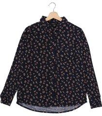 camisa azul oscuro-multicolor vero moda