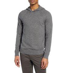 men's vince wool & cashmere hooded sweatshirt, size x-small - grey