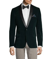 dotted velvet dinner jacket