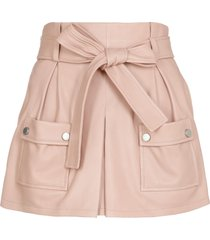 red valentino leather short with belt