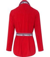 blazer met smalle reverskraag van marc aurel rood