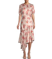 bouquet floral-print midi dress