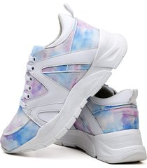 tênis sapatênis plataforma fashion tie dye dubuy 736el colorido