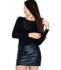 body up side wear decotado preto