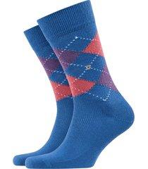 burlington preston socks | blue/peach | 24284-6452
