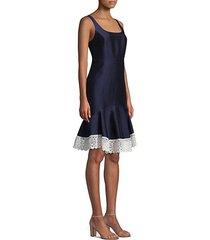 satin flounce dress