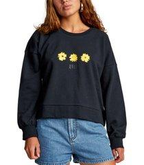 rvca juniors' cotton graphic-print sweatshirt