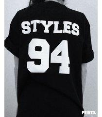styles 94 - short sleeve unisex tee - black / white