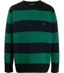 acne studios suéter oversized com listras - verde