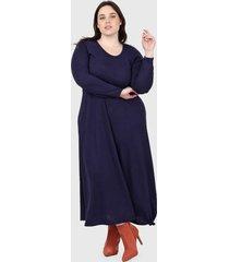 vestido azul minari lanilla