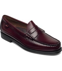 gh weejun ii larson moc penny loafers låga skor röd g.h. bass