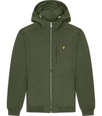 lyle and scott jk1214v lyle&scott softshell jacket, w123 trek green