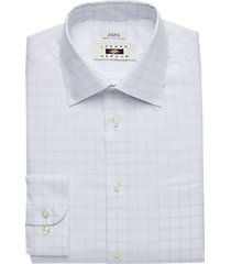 joseph abboud white & blue check classic fit dress shirt