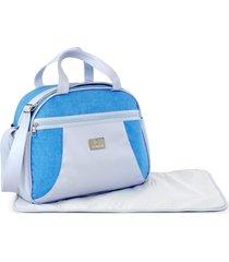 bolsa maternidade avelã ny baby nut azul