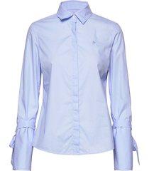 nicolette shirt overhemd met lange mouwen blauw morris lady