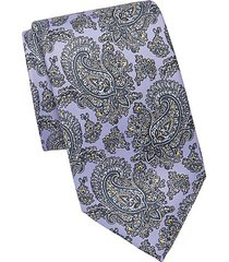 outlined paisley silk tie